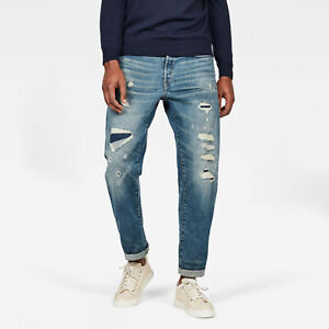 G-Star RAW Mens Moddan Type C Relaxed Tapered Dandy Restored