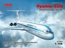 ICM 1/144 Ilyushin Il-62M Soviet Passenger Aircraft Aeroflot # 14405
