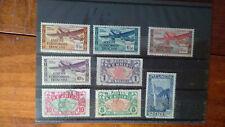 lot de 8 timbres anciens des colonies France AEF poste aérienne Réunion