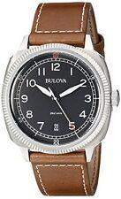 Bulova 96B230 Mens Military UHF Black Brown Watch