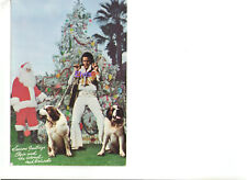 ELVIS PRESLEY COLONEL TOM PARKER AS SANTA SEASONS OVERSIZE GREETINGS POSTCARD
