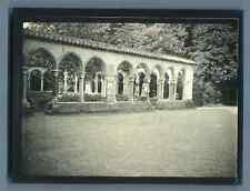France, Tarbes, Jardin de Massey. Le Cloître  Vintage silver print. Hautes Pyrén