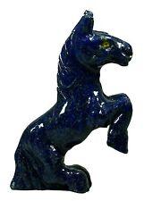 "4.62"" ROYAL BLUE LAPIS LAZULI CARVED HORSE STATUE AFGHANISTAN"