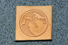 HOWLING WOLVES Leather Embossing / Clicker Stamp, Delrin / Acetal, NEW #102