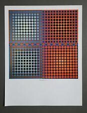 Victor Vasarely Kunstdruck Poster Art Print 27x36cm EG-1-2 1967 Quadrate Squares