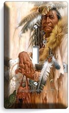 NATIVE AMERICAN INDIAN CHIEF SINGLE LIGHT SWITCH WALL PLATE COVER ROOM ART DECOR
