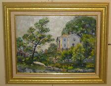 1945 'KING STREET ROCKPORT' Selah Eaton CAPE ANN IMPRESSIONIST Painting - LISTED