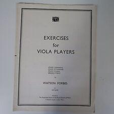 Esercizi per i giocatori Viola Grado 5, Watson Forbes