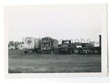 Circus Photography - Trucks - Vintage Glossy Snapshot Photograph