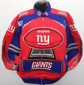NEW YORK GIANTS NFL LARGE TWILL FOOTBALL JACKET ODELL BECKHAM JR. ELI MANNING