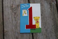 Unused Old Vintage Greeting Card Fun to Be One Child Baby Buzza Cardozo Giraffe