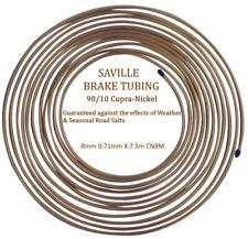 Saville 8mm X 7.5m 22 gauge CN8M Cupro Nickel Brake Pipe 90% Copper 10% Nickel