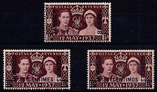 1937 Set of 3 Overprints -  Morocco Agencies Coronation George VI Unmounted Mint