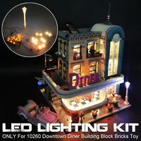 DIY USB LED Licht Beleuchtung Kit Für Lego Creator 10260 Downtown Diner Lighting
