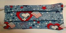 Face mask Snoopy patriotic fabric FREE SHIPPING