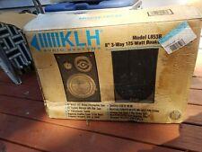 "New KLH Audio Systems L853B 8"" 3 Way Black Bookshelf Stereo Speakers 125W"