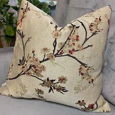 "John Lewis & Partners Blossom Cushion Pillow Cover 18"" Weave  & Mocha"
