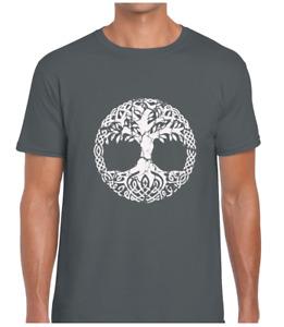 NORSE TREE OF LIFE MENS T SHIRT TEE VIKING NORDIC CELTIC DESIGN ODIN THOR RAGNAR