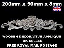 Meuble applique shabby chic décoratifs en bois meuble vintage Moulage NOUVEAU!