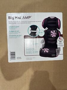 EvenFlo Big Kid Amp 2-in-1 Pink/Black/Grey Car Seat (40-110lbs) (40-57in).