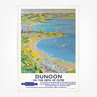 Vintage travel poster Its Sunny at Howth Dublin Bay A4