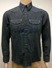 (Used) Mens Ram Page Long Sleeve Button Front Shirt Size: S Stripes