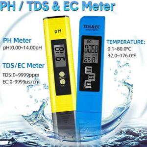 Digital PH TDS EC water quality test conductivity meter hydroponic pond test pen