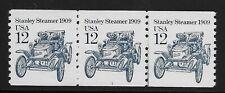 US Scott #2132, Plate #1 Coil 1985 Stanley Steamer 12c FVF MNH