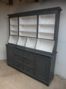 An Amazing Reclaimed Pine Light Grey Large Shop Fitting / Kitchen Dresser