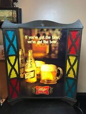 vintage Miller High Life Beer Sign. Amazing Condition. And Works Great!