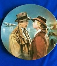 """Vintage Knowles Collector Plate Casablanca """"Here's Looking at You Kid"""" Bogart"""