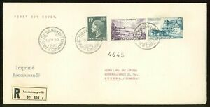 Luxembourg B05 FDC 1953 registered 3v Castle Palace CV 195 eur
