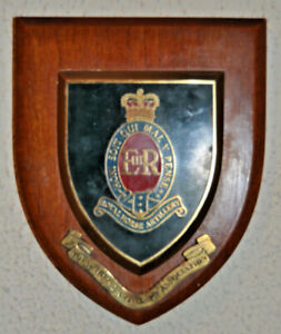 Royal Horse Artillery Association regimental mess wall plaque shield RHA RA RHAA