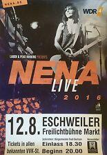 NENA  2016  OBERHAUSEN  - orig.Concert Poster -- Konzert Plakat  A1 NEU