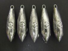 5 x 3oz Beach Bomb Lead Weights Lure Cod Sea Pier Mackerel Bait Casting Fishing