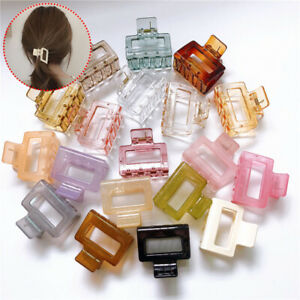 Hair Clip Color Hairgrip Lady Square Transparent Hair Claw Crab Clamp Accessory