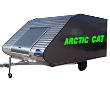 "2 Huge Arctic Cat Decals Graphics For Snowmobile Trailer 10""x 60"" in Lime Green"