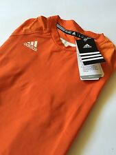 NWT Adidas ClimaCool Fitted Compression Techfit Top Size XL Orange Camouflage