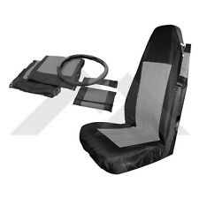 Front Seat Cover Set Black/Gray Jeep Wrangler YJ TJ 1987-2002 RoughTrail SC10021