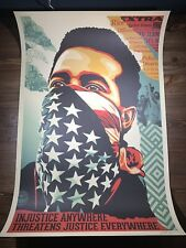"""Shepard Fairey Obey Giant """"American Rage"""" Art Print Poster Signed Ted Soqui"""