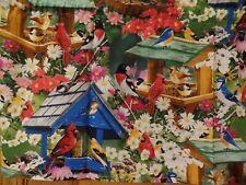 Song Birds, Bird Houses & Feeders, Purple Cone Flowers, Handmade Window Valances