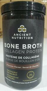 Ancient Nutrition Bone Broth Protein Chocolate 12.6 oz Exp 12/31/2022