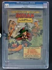 An Illustrated Library of Great Indian Stories nn #3 - CGC 6.5 - Gilberton 1949!