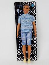 Barbie Fashionistas Ken 13 Man Bun Broad Body Distressed Denim 2017 Mattel