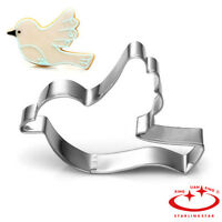 Pigeon Dove Bird of Peace Stainless Steel Cookie Cutter Mold Biscuit Baking Tool