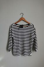 H&M Striped Jumper with tie knot ribbon at the back Cotton Sweater