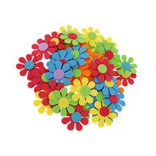 50 Mixed Foam Flower Shapes Kids Children Decoration Crafting Diy Scrapbook