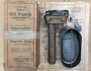 NORS 1937 1938 1939 Chevy OIL PUMP UNIT w/ SCREEN Older aftermarket replacement