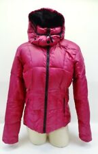 Sunice Pink Wildberry Quilted Down Removable Hooded Jacket Coat Sz 6