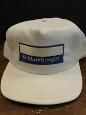 Vintage Schlumberger White Navy Trucker Hat Cap Snapback Adjustable